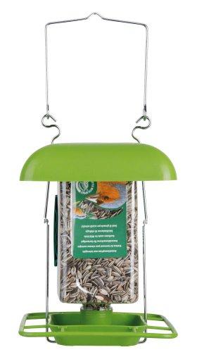 3 Stück Esschert Design Halterung mit Dach für FB153 PET-Vogelfutter-Flasche, zum Aufhängen