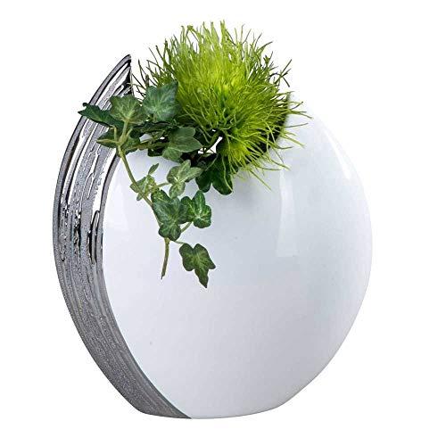 Vaso tavola esclusivo moderno ceramica decorativa edelweiss 22 x 26 cm
