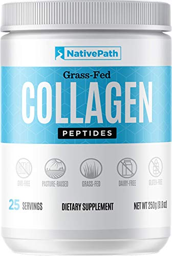 NativePath - Collagen Protein Powder - 8.82 Oz. - 25 Servings - From Premium Grass-Fed Bovine For Youthful Skin, Metabolism, Joint Health, More - Tasteless, Odorless - Keto-Friendly - Dairy-Free - Pal
