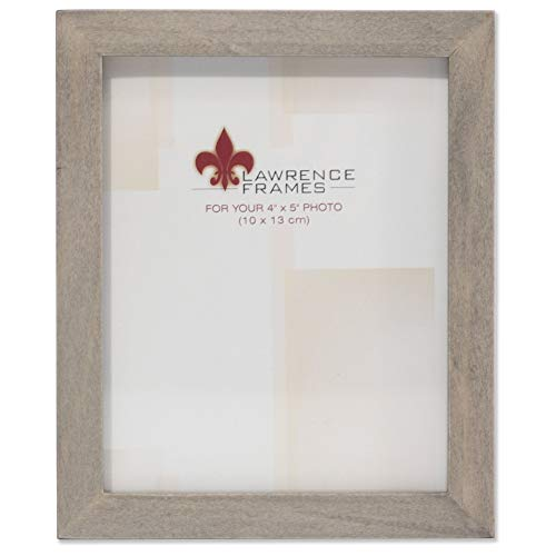 Lawrence Frames 4x5 Gray Wood Gallery Collection Picture Frame