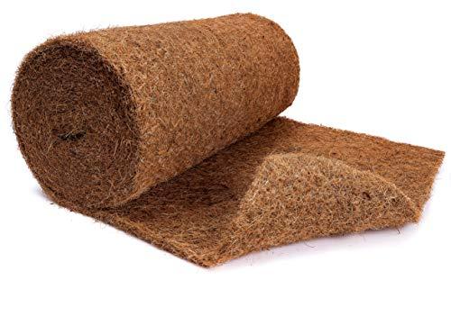 N Nagerteppich.de Kokosmatte aus 100% Kokosfasern - 50cm x 5m Rolle Anzuchtmatte ohne Latex - Winterschutz und Kälteschutz für Pflanzen - Baumschutz Meterware Naturprodukt