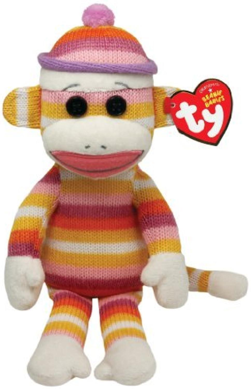 Ty Beanie Babies Sock Monkey Pastel Stripes 8 Plush by Ty Beanie Babies