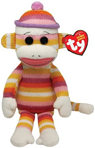 Ty Beanie Babies Sock Monkey Pastel Stripes 8 Plush by Ty Beanie Babies