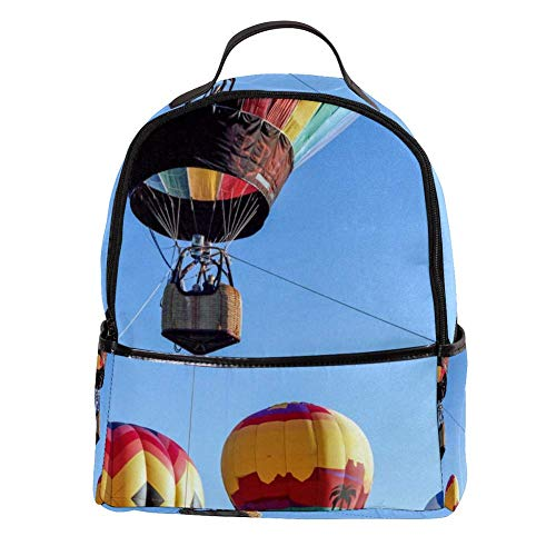 TIZORAX farbige Heißluftballons, schwebender Laptop-Rucksack, lässig, Schultertasche, Tagesrucksack für Studenten, Schultasche, Handtasche – leicht