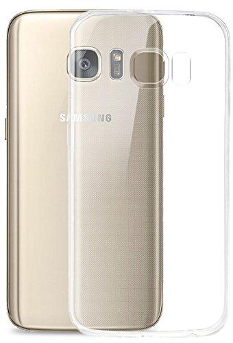 COVERbasics Cover Compatibile con Samsung Galaxy S7 (AIRGEL 0.3mm) Custodia Trasparente Slim in Silicone TPU Sottile con Bordo Proteggi Fotocamera
