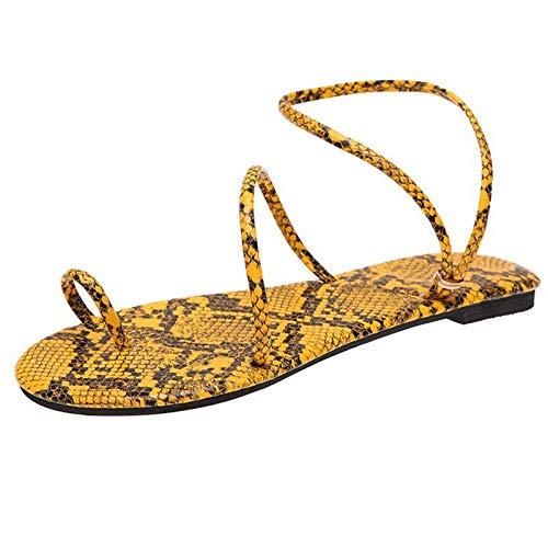 Damen mode Flat-Bottom Flip Finger SandalenSommer Mit Absatz Elegant Hausschuhe Schuhe für Sommerschuhe Beach Frühling