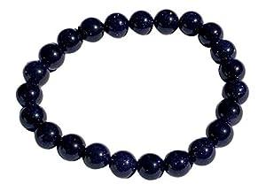 schoener-mineralienschmuck / Edelsteinschmuck Mutter: Blaufluss (Klein) Blaufluss Armband Blaufluss Kugeln Größe ca. 8 mm Armband Größe ca. 19 cm Modellnummer 1705