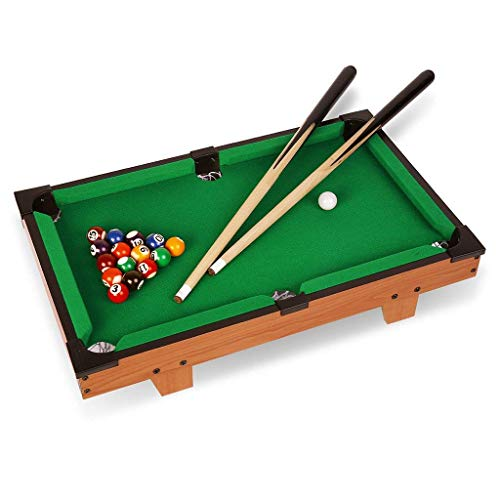 IRIS Mini Tabletop Pool Table Billiard Game Set w/ Cues Balls (70 cm.L X 37 cm.W X 16.5 cm.H)
