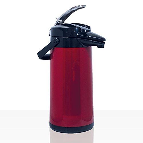 Bonamat Pumpkanne Furento - ROT METALLIC - Edestahlinnenzylinder