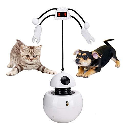 LIANGZHI katzenspielzeug Laser automatisch, 3 in 1 Auto Rotating Light Chaser Spielzeug und Federspielzeug, Intelligentes Training interaktives Laserspielzeug für Hund und Katze