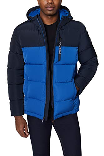 Nautica Men's Quilted Hooded Parka Jackets