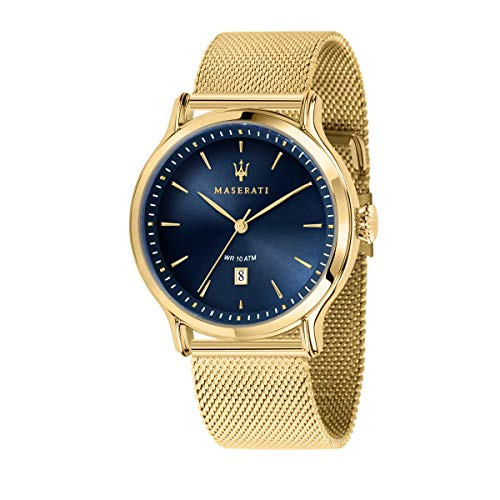 Reloj para Hombre, Colección Epoca, Solo Tempo, en Acero y PVD Oro Amarillo - R8853118014