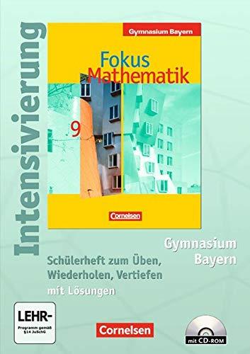 Fokus Mathematik - Bayern - Bisherige Ausgabe: 9. Jahrgangsstufe - Intensivierung: Schülerheft mit eingelegten Lösungen und CD-ROM