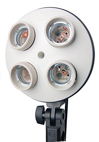 HWASTUDIO 4-in-1 dell'adattatore dello zoccolo E27 Supporto con 4 Supporto lampadina