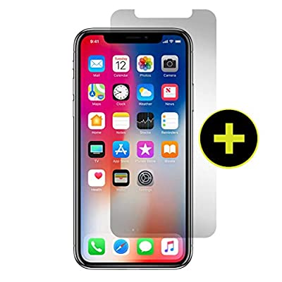 Gadget Guard Black Ice Plus Sapphire Edition Extra Strength Tempered Glass Screen Protector for Apple iPhone X - Clear by Dynamic Products Inc