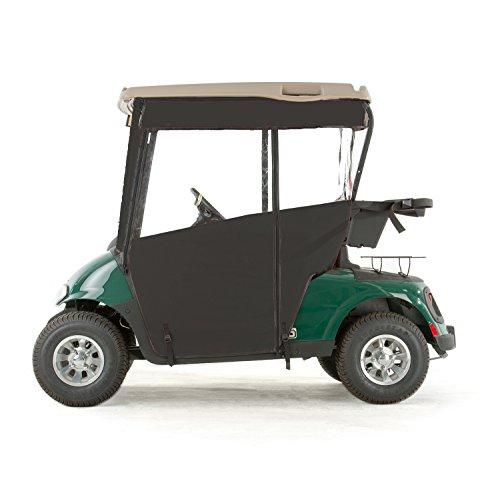 EZGO RXV Golf Cart PRO-TOURING Sunbrella Track Enclosure - Black-BLK