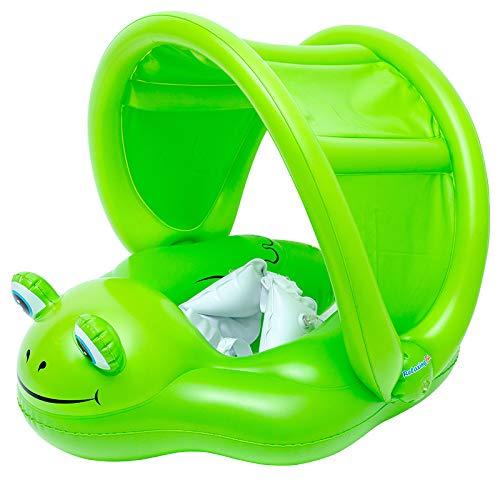 Flotadores para bebés Anillo Inflable de Cintura Ajustable, Anillo de natación para bebés con Parte Inferior de la Entrepierna, Flotadores para bebés con Bomba Manual para 6, Flotador de Ran