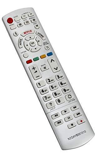 ALLIMITY N2QAYB001010 sub N2QAYB001011 Fernbedienung Ersetzen für Panasonic Viera TV TX-32CSW604W TX-32CSW604 TX-32CS600E TX-40CSW614 TX-40CS610E TX-32CS600EW TX-40CS610EW TX-40CSW614W