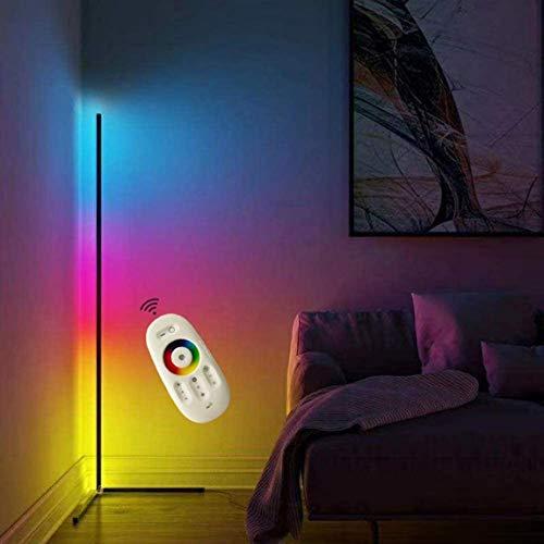 MeTikTok Lámpara De Pie LED Decoración La Esquina 20W Sala Estar Moderno Vertical Light Dimmable (16 Millones Colores + Control Remoto) para Dormitorio, Luz Ahorro Energía Oficina