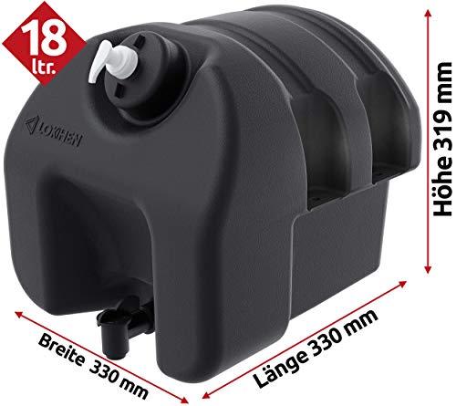 Waschwassertank 18 Liter mit Seifenspender, Wassertank