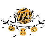 Aurelion Sol Halloween Calabaza Luz de la Pared Mall Stick Mall Sala de la Sala Pegatinas de eliminación Autoadhesivas, Kit de decoración de Vacaciones Fiesta Mejor Regalo DE NIÑOS