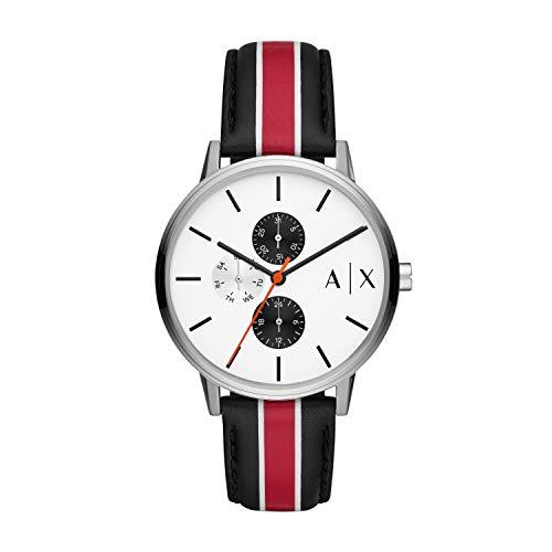 Armani Exchange Reloj Analógico para Hombre de Cuarzo con Correa en Piel Genuina AX2724