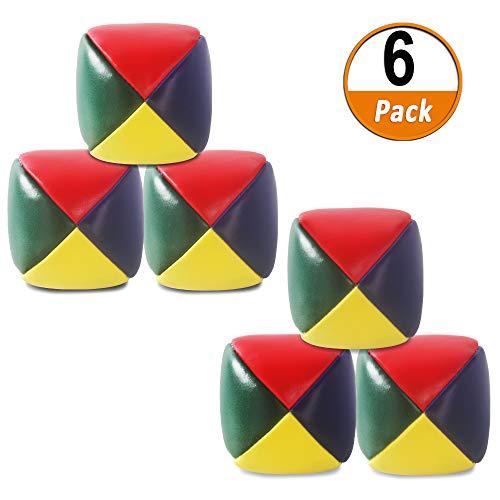 Heqishun 6 Pack Soft Juggling Balls for Beginners Juggle Balls Bulk Set for Juggler, Kids and Adults