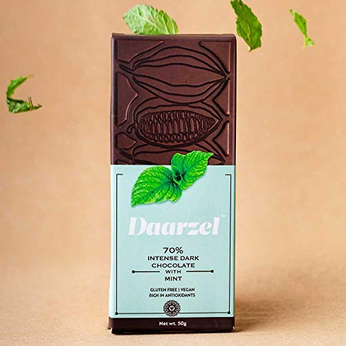 Dark Chocolate with Mint (Vegan and Gluten Free)(50 GMS)