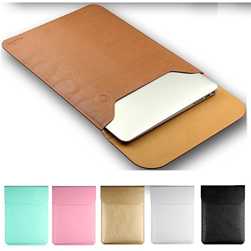 ARBUYSHOP Hot Fashion Leather Sleeve Case For MacBook Air 11',AIR 13',Retina 12,13.3,15.4 inch,12 Colors, Wholesales,Free Drop Shipping.