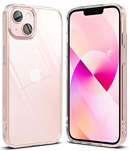 Ringke Fusion Compatible con Funda iPhone 13 (2021) Carcasa Queda como un Guante, Case Transparente con Agujeros para Cuerda - Clear