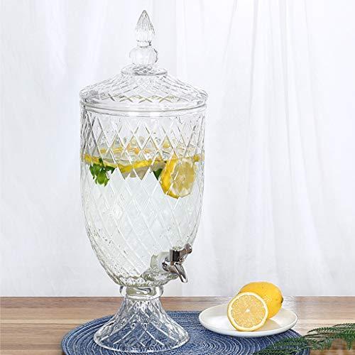 Bucket Yxx@ Dispensador de Bebidas de Vidrio para Exteriores Dispensador de Bebidas de Vidrio de 1.8 L 4.5L Botella de Vidrio con Grifo Botella de Vino de Vidrio Tanque de Bebidas