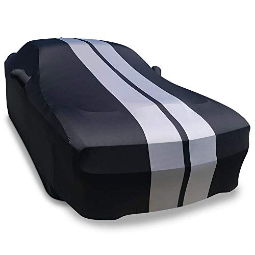Crevelle Custom Fit 2008-2020 Dodge Challenger Car Cover Black Sapphire Metallic Covers