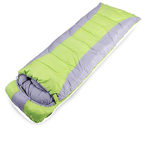 DLSM Sleeping bag adult outdoor adult indoor anti-dirty winter thickening warmth and cold protection camping travel portable household-Fruit green fight ash [1.6kg]