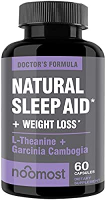 Natural Sleep Aid For Adults Helps Insomnia Relief As Sleeping Pills Extra Strength Made With Melatonin, Valerian Root & Garcinia Cambogia Weight Loss Aids Night Time Fat Burner & Appetite Suppressant