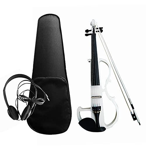 Violín electroacústico 4/4 Violín eléctrico silencioso para principiantes y estudiantes (tamaño: tamaño...