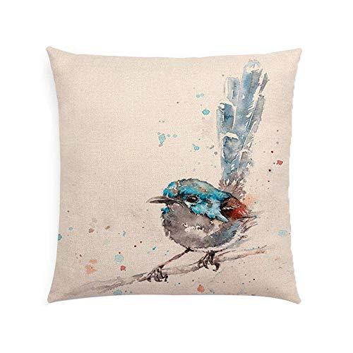 IMJONO Taies d'oreiller Impression Lin Jeter Taies d'oreiller Housse de Coussin de Voiture pour canapé-lit décor de la Maison Ensemble Amovible, 45 x 45 cm (C)