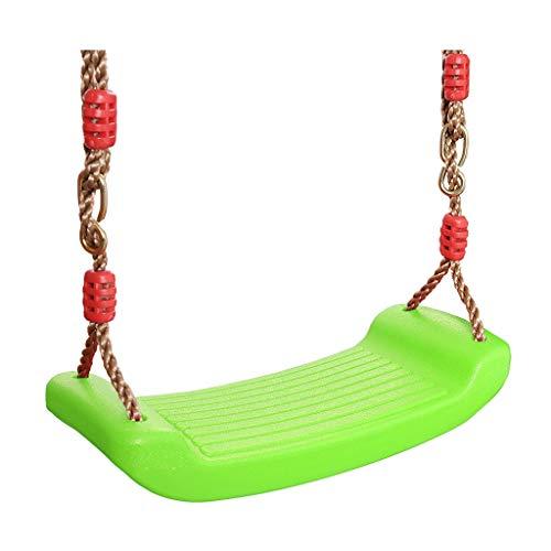 BingWS Schommel voor de tuin, voor kinderen, met verstelbaar touw, voor binnen van kunststof, voor kinderen