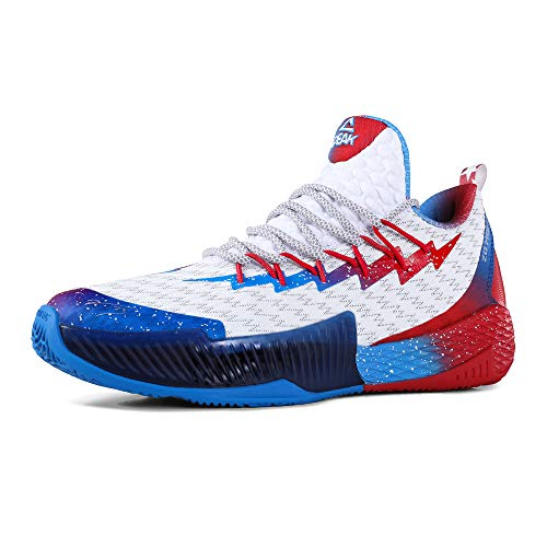 PEAK Mens Basketball Shoes Breathable Sneakers Lou Williams Lightning Professional Anti Slip Sports Shoes for Running, Walking