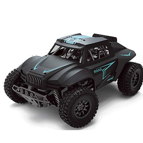HSCW 1:12 2.4GHz Todo Terreno Controlado por Radio Racing Monster Truck, Neumáticos Anticolisión y Anti Caída Negros Mate, Coche de Control Remoto con Personalidad Creativa, Niños