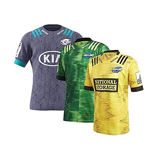 TIANM 2020 Hurricanes Rugby-Trikot, New Away-Fußballtrikot, Herren-Fußballtrikot-Green-M