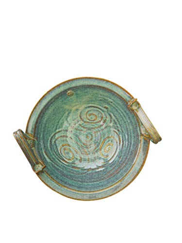Castle Arch Pottery Celtic Bowl Hand-Glazed With Ancient Celtic Symbol 10 Inches In Diameter, 4 Inches in Height 1000 ML