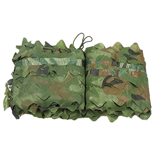Chihen zonwerend net Jungle Camouflage Zonnebrandnet Green Sun Camouflage Zonnescherm Green 70% Shade Rate