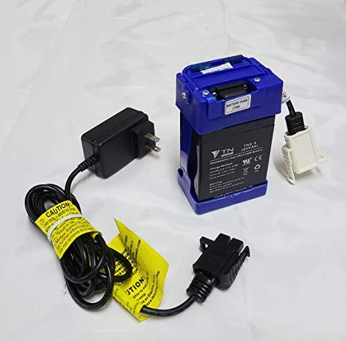 JUNGSON 6 Volt Battery and Charger Compatibal with for Motion Trendz Mega Tredz Yamaha YFZ Replica ATV Action Wheels Disney Cars 2 Francesco Race Car Battery Powered Ride On