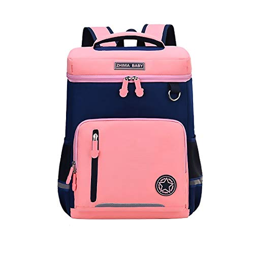 Primary School Bag for Boys Girls 7-12 Years Old, Kids Childrens Backpack Book Bag Multiple Compartments Nylon Schoolbag Waterproof Travel Rucksack