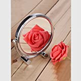 Desktop Mirror Make-up Mirror Enlarged Make-up Mirror 3 Times Magnification Double-Sided Vanity Mirror Beauty Mirror One high-Definition Mirror Surface One Magnifying Glass Surface(Magnify 3 Times)