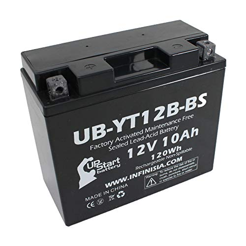 Replacement for YT12B-BS Battery 12V 10AH SLA - Compatible with 2009 Yamaha Fz6r, 2009 Ducati Monster 696, Ducati Monster 2018, Ducati Scrambler 2015, 2013 Yamaha Fz6r, 2016 Ducati Scrambler