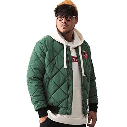 Jassen heren katoenen mantel wintermantel geruit bedrukt baseball uniform dik katoen jas outdoor koude kleding dikke warm katoen pak