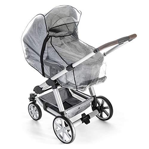 Reer RainCover Classic + Regenschutz, für Kombi-Kinderwagen mit Reißverschluss