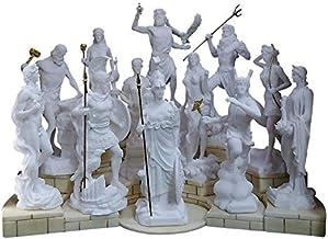 Set 12 Twelve Greek Roman Olympian Gods Pantheon Statue Sculpture Figure Snow White