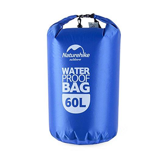 TRRE Voyage en plein air sacs étanches sac dérivantes snorkeling plage natation sac, 5L / 20L / 60L ( Couleur : Bleu , taille : 60 l )
